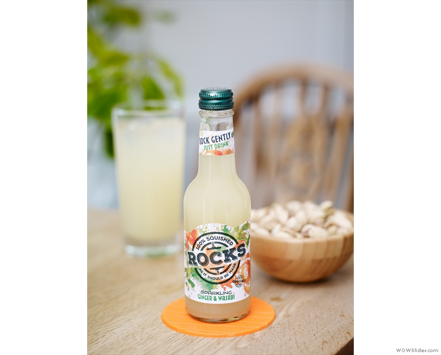 And finally, we have Rocks Drinks Organic Ginger and Wasabi, a new twist on ginger beer.