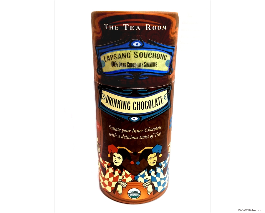 3rd on the shortlist: The Tea Room's Organic Drinking Chocolate Fusion Line: chocolate + tea