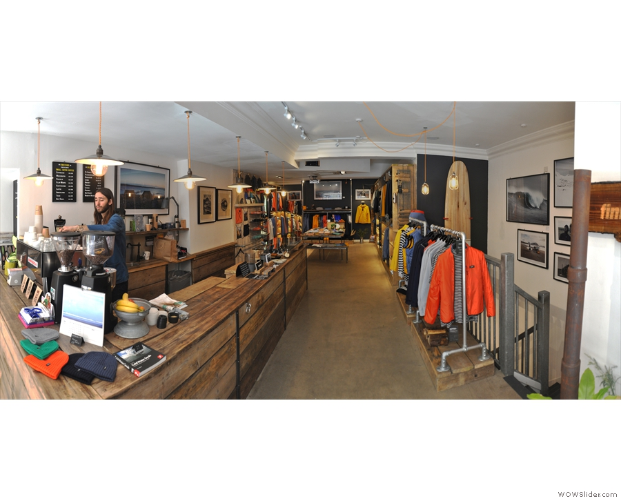 However, look beyond the counter, and Finisterre looks less like a coffee shop.