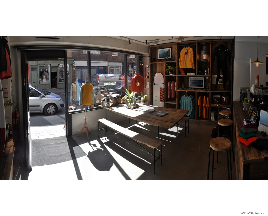 The view back to the sun-drenched front of the store.
