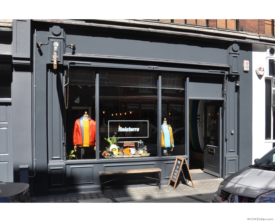 Finisterre, on the sunny side of Earlham Street.