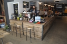 ... a view reinforced by the lovely wooden counter.