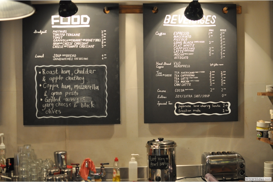 So, let's see, what shall I have? That's a fairly comprehensive menu!