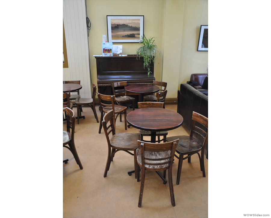A piano. Naturally. Every coffee shop should have one.
