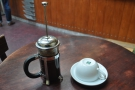... which I demonstrated by having a cafetiere of the house-blend...