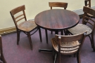 A typical Redroaster round table.