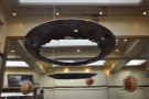 There are some lovely things hanging from the ceiling. This one looks like a flying saucer...