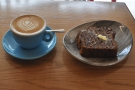 Instead I had a flat white, plus a slice of Beany Green's Award-winning banana bread.