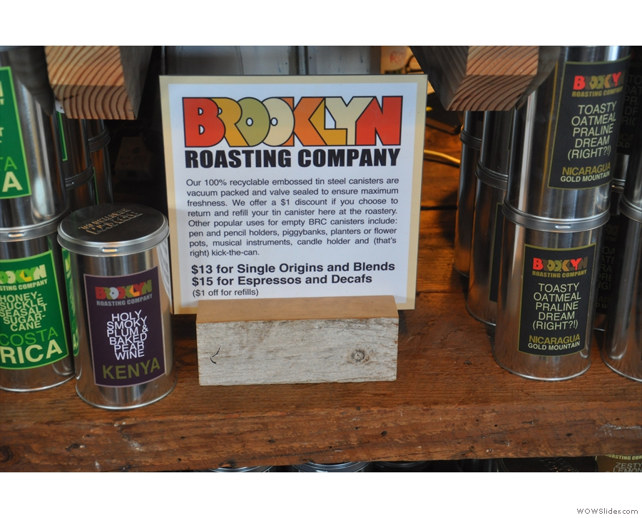 The Brooklyn Roasting Company is keen on recycling!