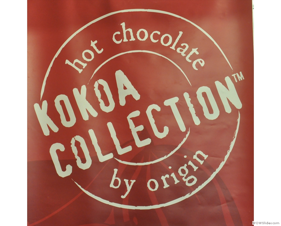 And just to show it wasn't all coffee, there was also hot chocolate from Kokoa Collection.