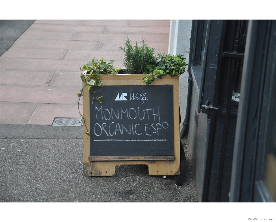 I loved the combined A-board and window box.