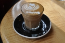 ... which I followed up with a decaf cortado. Amazing latte art!