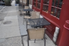 The Spruce Street outdoor seating...