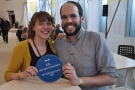 ... and the happy couple afterwards with their Best New Coffee Shop Award.