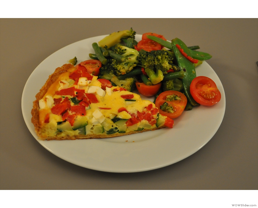 In January I was there for lunch and had this lovely quiche, plus a really crunchy salad.