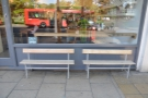 You can, if you like, sit on one of the two benches. You'll have a great view of the buses.