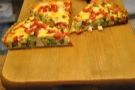 ... including this pepper, courgette and feta quiche.