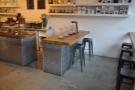 The dedicated brew bar is at the end of the counter (as seen in January).