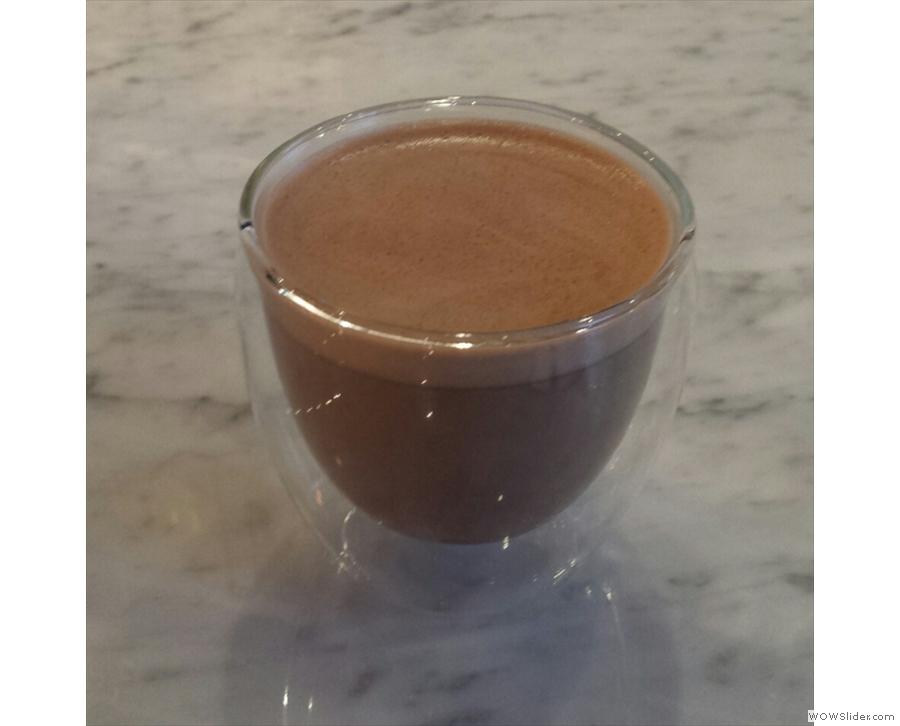 I also tried some Kokoa Collection hot chocolate.