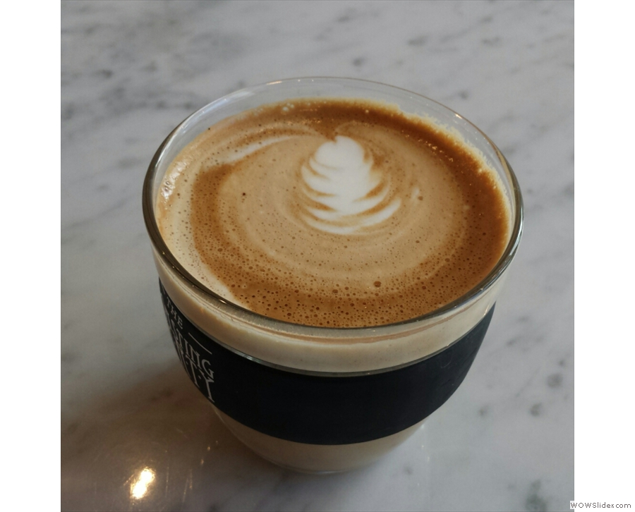 Some lovely latte-art from Lizzy...