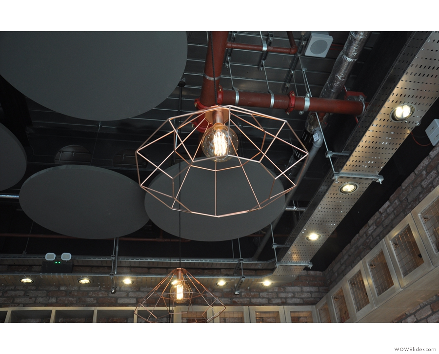 There are some really interesting light-fittings. One hesitates to call them shades!
