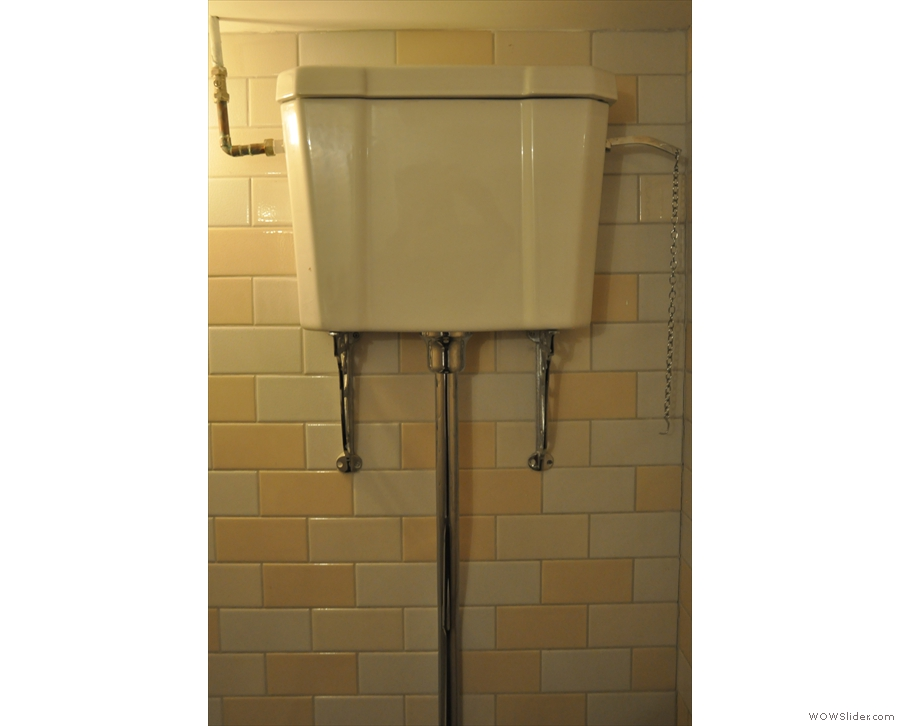 ... which is also home to this old-fashioned cistern.