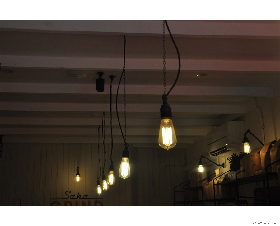 More light-bulbs, running the length of the ceiling upstairs.
