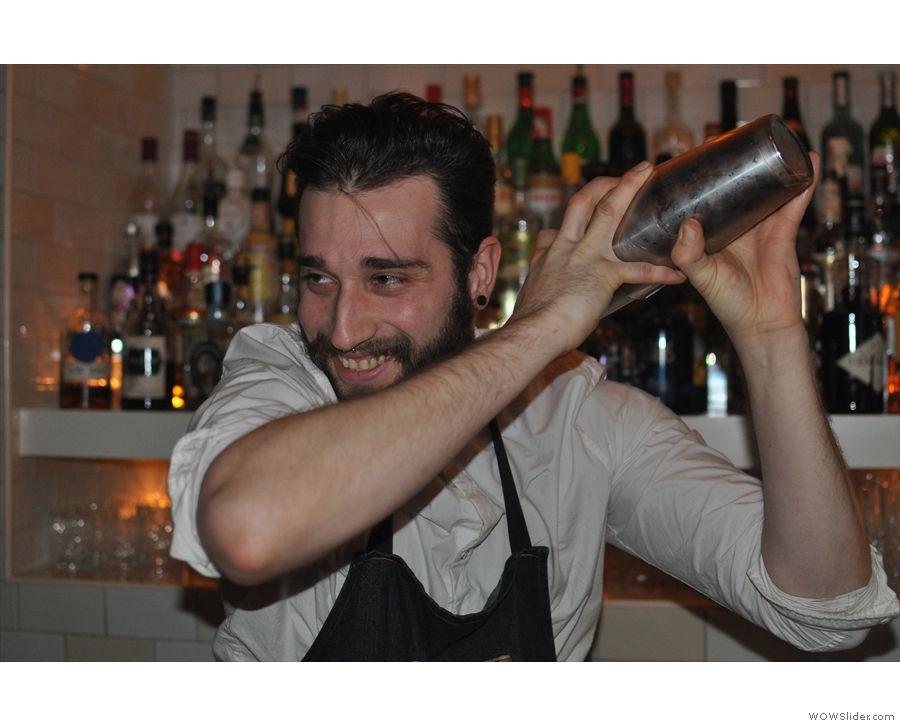 First step, get your bartender (Marco in this case) to mix them together...