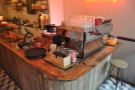 ... or you can perch by the La Marzocco espresso machine if you like.