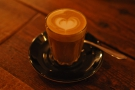 On my first visit (in the evening) I had an excellent decaf piccolo...