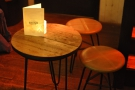 ... or grab one of the tables for a more intimate tete-a-tete.