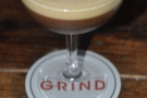 Finally, three coffee beans for decoration: my lovely (decaf) Espresso Martini.