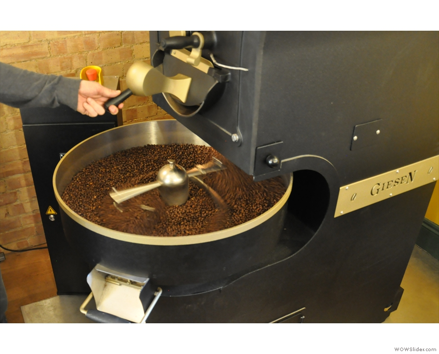 ... where the aim is to cool them as quickly as possible to stop any further roasting.