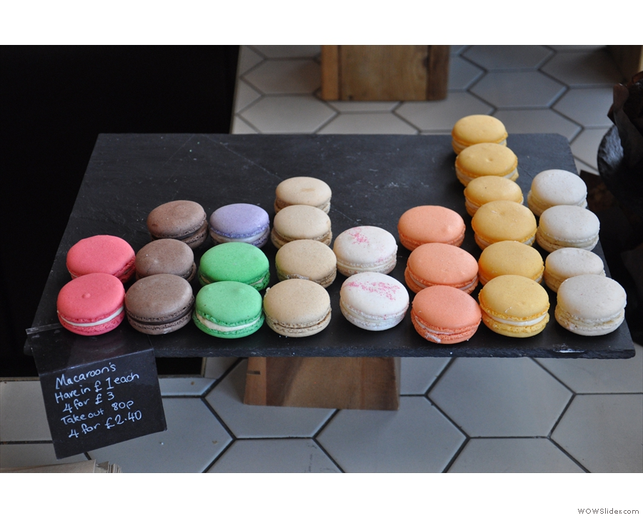 Next come the macaroons...