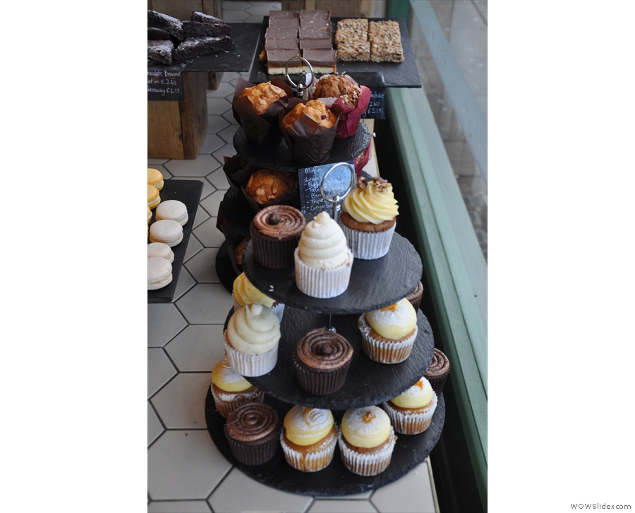 ... and the massed ranks of cupcakes and, behind them, the muffins.
