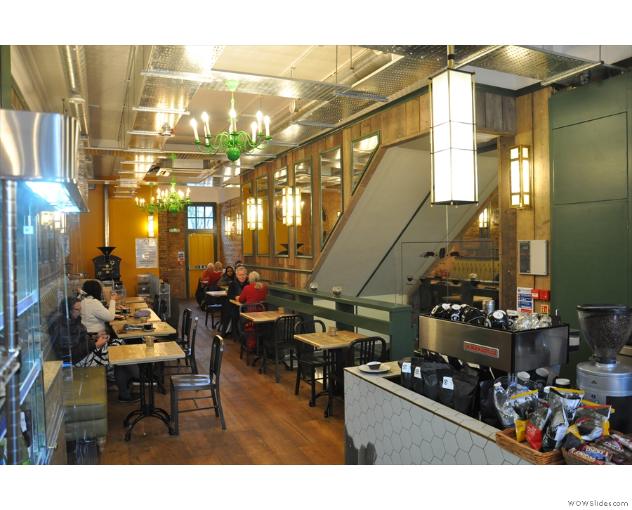 However, the main seating is beyond the counter, where Café Zee's true elegance kicks in.