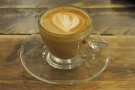 The house special, a cortado, lovely and sweet...