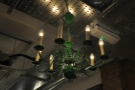 It's not just strip lights on the wall, though. There are also these gorgeous chandeliers.