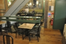 However, that's not all. Just at the end of the counter, before a row of tables...