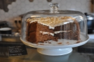 There are even more cakes further along the counter, such as this carrot cake...
