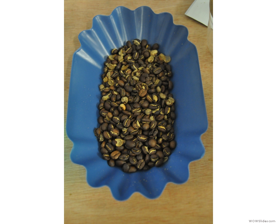 And here they are: freshly roasted beans!