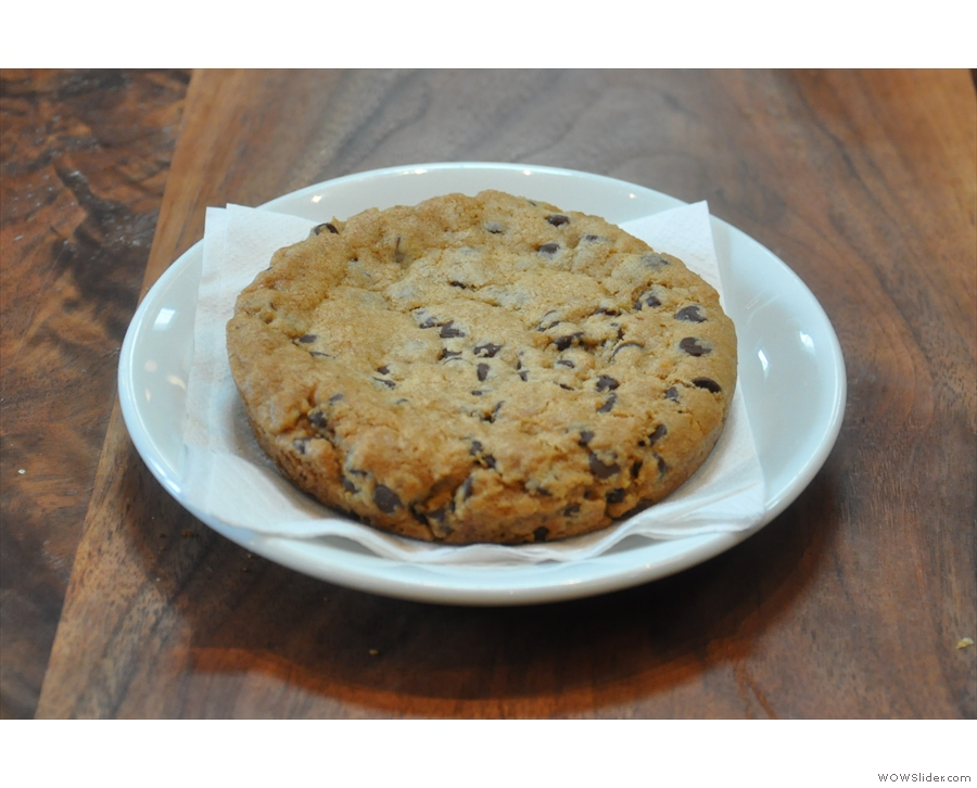 I also had a chocolate-chip cookie. Greg made me. Honest.