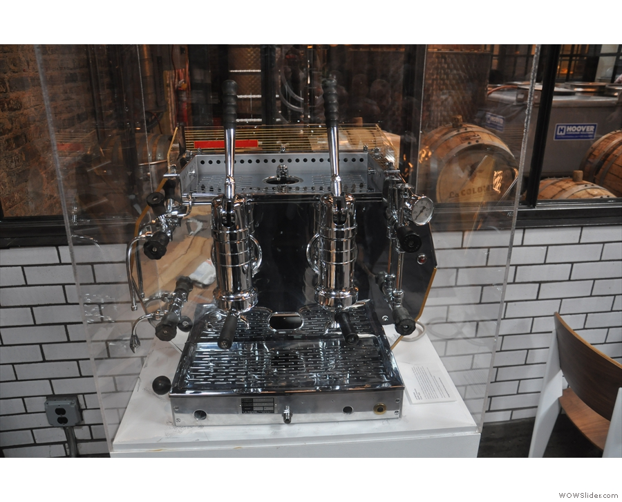 Talking of espresso machines, this lovely 1956 La Pavoni is at the back, but sadly not in use.