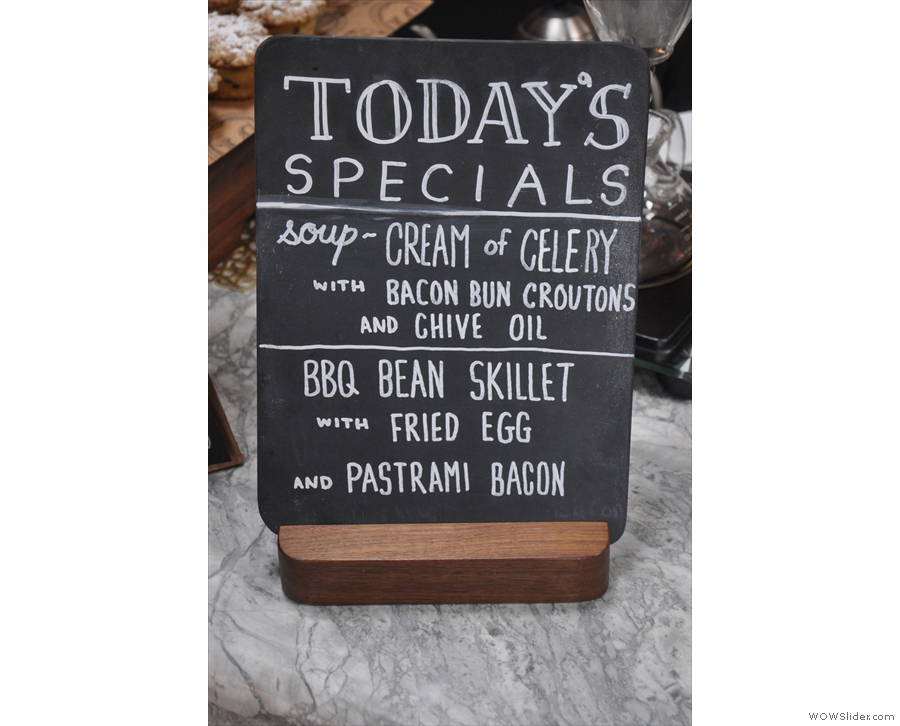 Not forgetting the daily specials. A BBQ bean skillet sounds interesting...