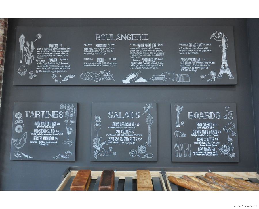 As well as the boulangerie, there's also an interesting selection of food...