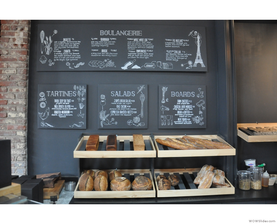 All the bread is baked on the premises and available to purchase.