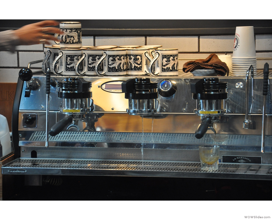 Looks like the espresso machine's getting ready for action...