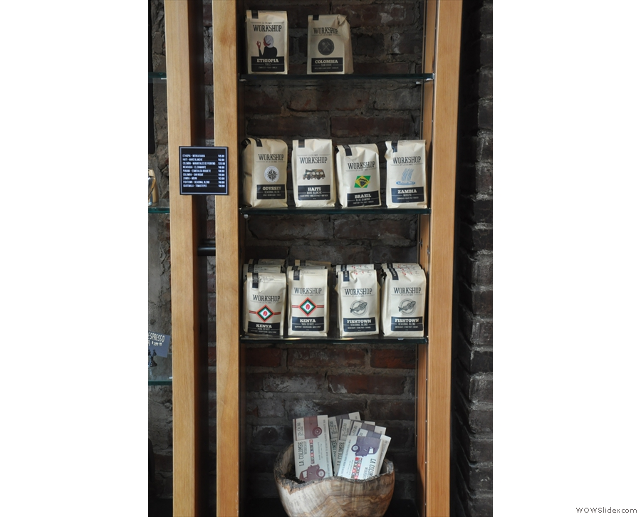 La Colombe also has a 'Workshop' brand, not, as I first thought, coffee from the UK!