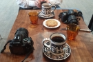 This is what happens, by the way, when two coffee bloggers go out for coffee...