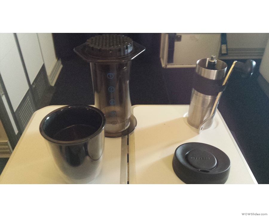 ... bad airline coffee becomes a thing of the past. Just add hot water (thanks to the aircrew).